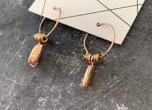 Small hoops drop earring