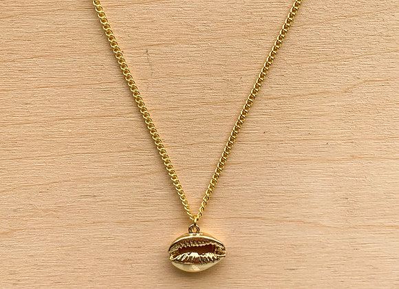 Necklace Golden shell