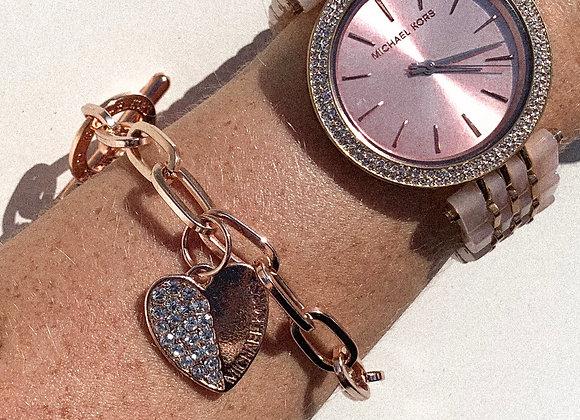 Michael kors rosé armband