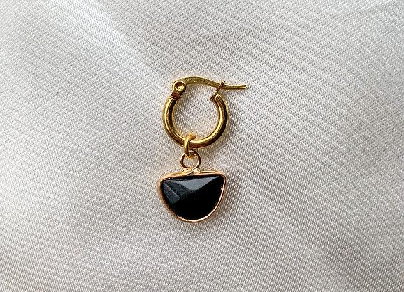Creolen hoops zwart kuipje
