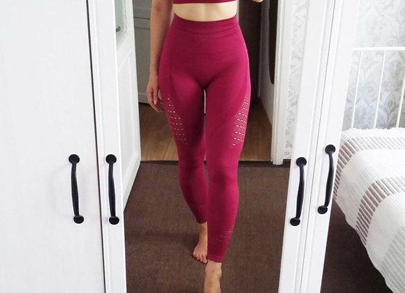 Bella wine red gym legging