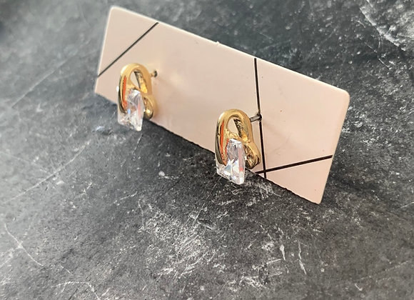 Small diamond earring
