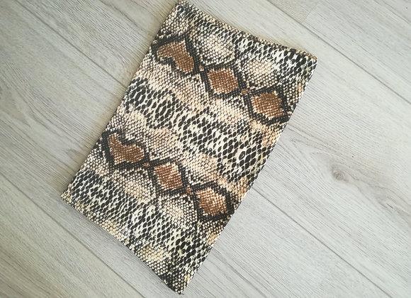 Snake print bandeau