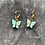 Thumbnail: Mini hoops vlinders turqouise