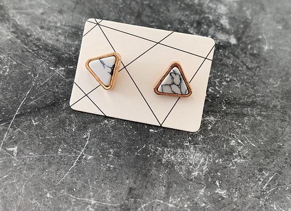 Marmer look earrings
