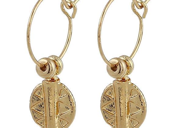 Bohemian Round hoops earrings