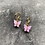 Thumbnail: Mini hoops vlinder lila