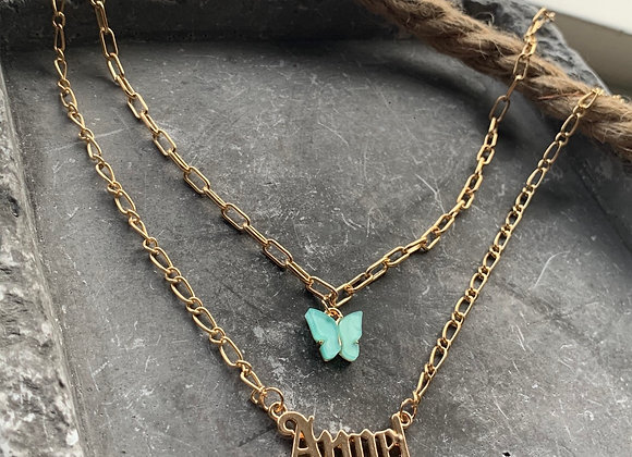 Chain double layer Angel vlinder