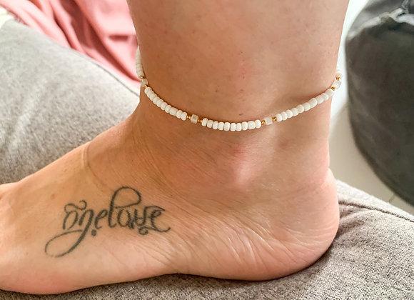 White gold anklet