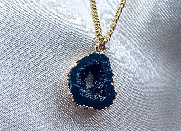 Necklace zwart natuursteen