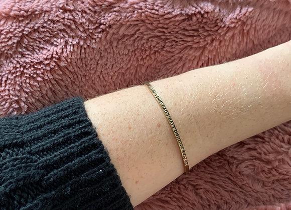 Slaven armband text