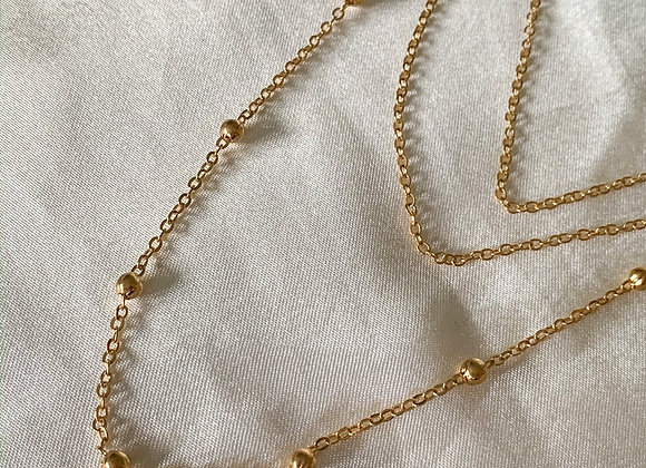Multi layer bells necklace