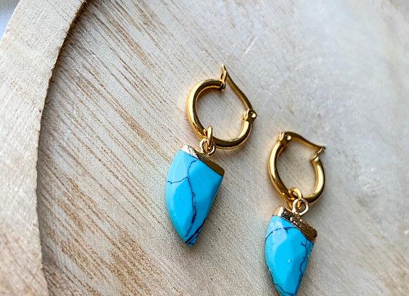 Creolen hoops turquoise