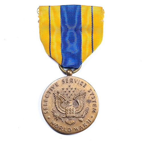 US WWII Selective Service System Medal
