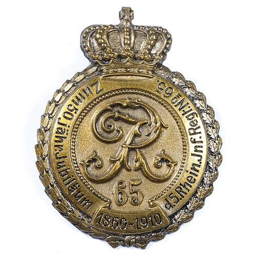 Pre WWI German, 5. Rheinisches Infanterie-Regiment 65 Badge (1860-1910)