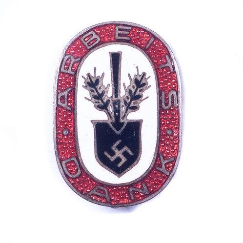 "WWII German ""Arbeits Dank"" Badge"
