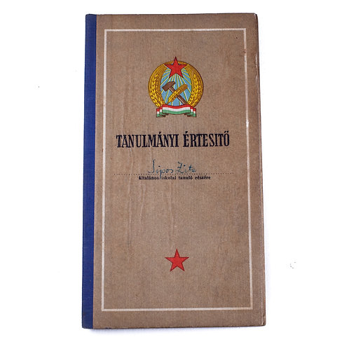 Early Socialist Hungarian Study Report Book