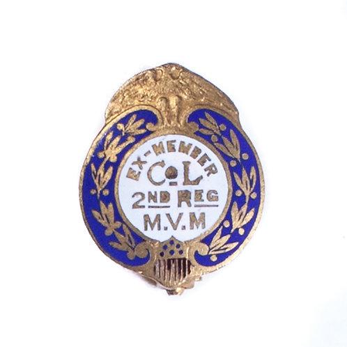 "Massachusetts Volunteer Militia ""Ex-Member"" Badge (2nd Reg. / Co. L)"
