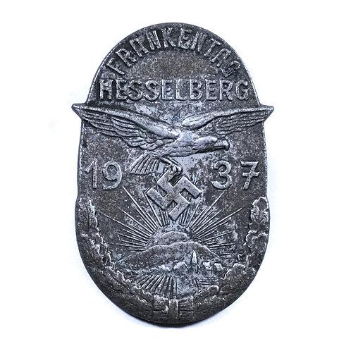 """WWII German """"Frankentag Hesselberg 1937"""" Tinnie"""
