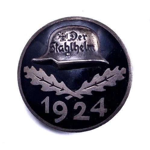 """Weimar Republic, 1924 """"Der Stahlhelm"""" Badge"""