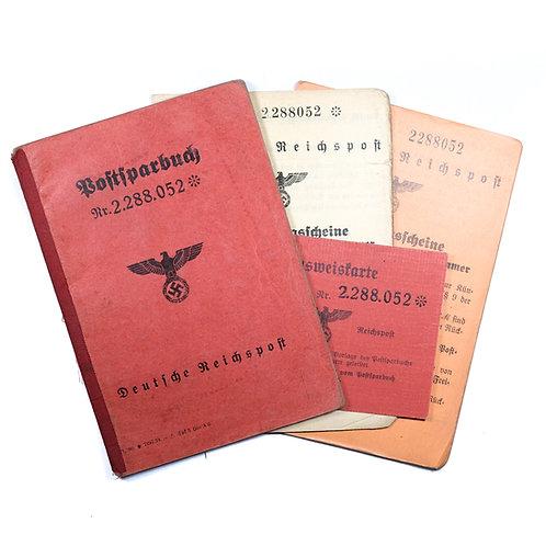 WWII German Deutsche Reichspost Savings Account Grouping
