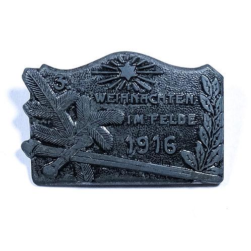 WWI Austro-Hungarian Army Christmas Cap Badge, 1916