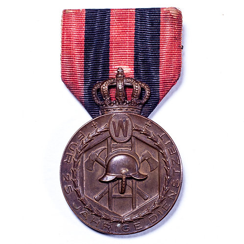 Wurttemberg Fire Service Medal for 25 Years