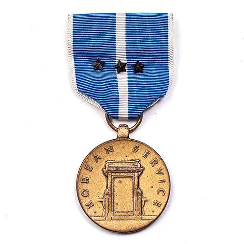 US Korean Service Medal (3 Service Stars)