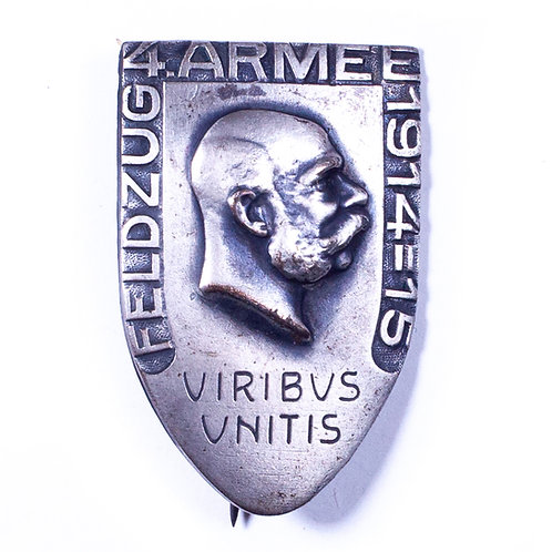 WWI Austrian Campaign Badge, 4th Army 1914-15