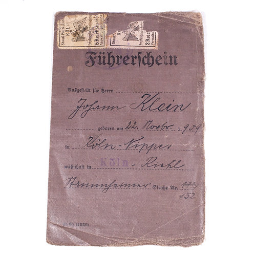 WWII Era German Driver's License