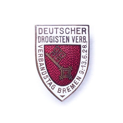 Interwar German Druggist's Association Badge (Bremen 1928)