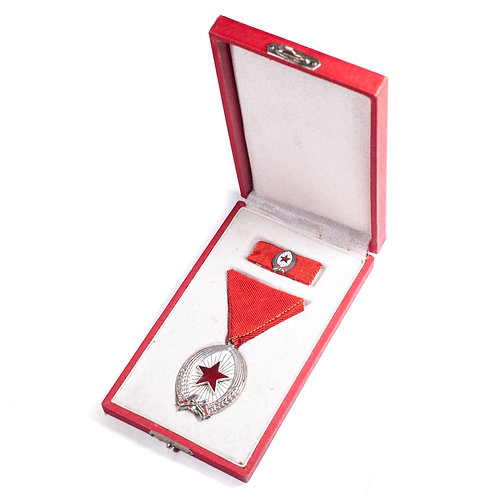 Hungarian Order Of Labor (Silver, Cased Set)