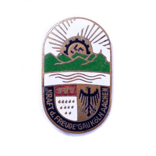 WWII German KDF Badge (Köln-Aachen)