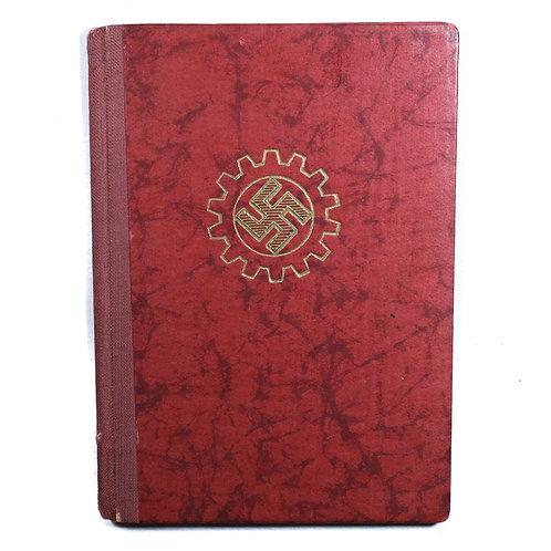 WWII German DAF (Deutsche Arbeitsfront) Membership Book
