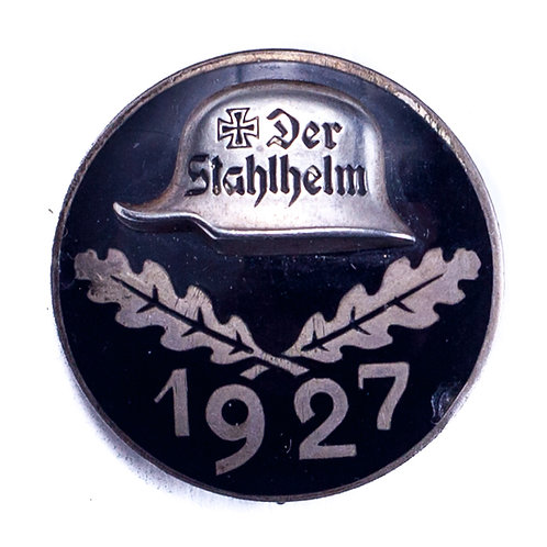 "Weimar Republic, 1927 ""Der Stahlhelm"" Badge"