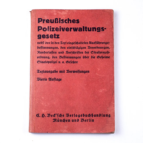 Prussian Police Administrative Law book