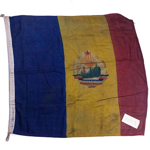 Socialist Republic of Romania Flag (Gift to American Missionary w/ Provenance)
