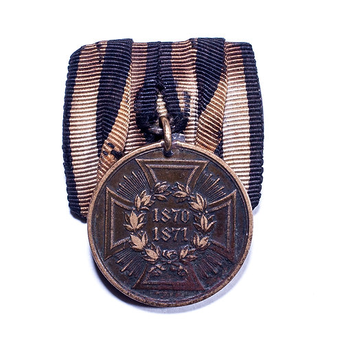 German War Commemorative Medal of 1870/71 for Combatants (Mounted)