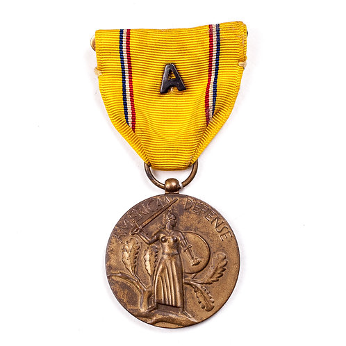 "American Defense Medal (w/ Atlantic ""A"" Device)"