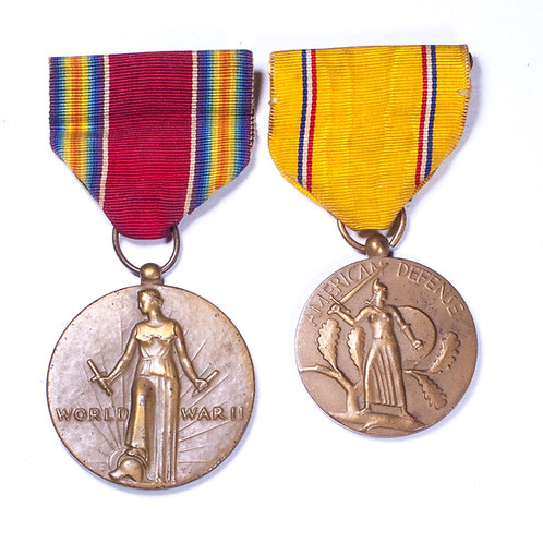 WWII US Grouping (Victory Medal + American Defense Medal)