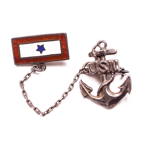 "WWII-era US Navy ""Son-In-Service"" pin (Sterling Silver)"
