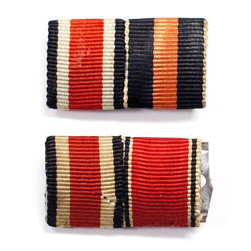 Set of Two Ribbon Bars (EK2, Annexation Medals)
