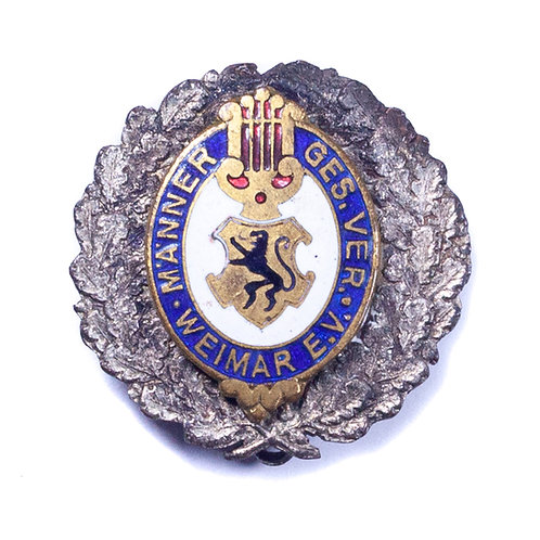 WWI German Men's Singing Club Membership Badge, Weimar