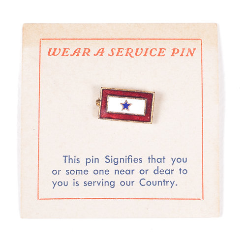 Son-In-Service Pin w/ Original Sales Card