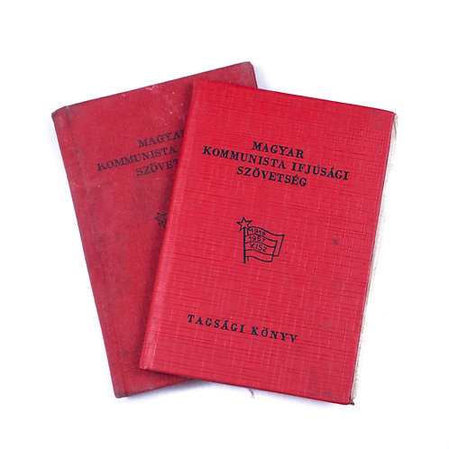Hungarian Young Communist League Membership Books (w/ Photo)