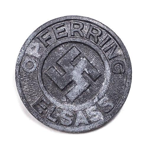 "WWII German ""Opfering Elsass"" Badge (2)"