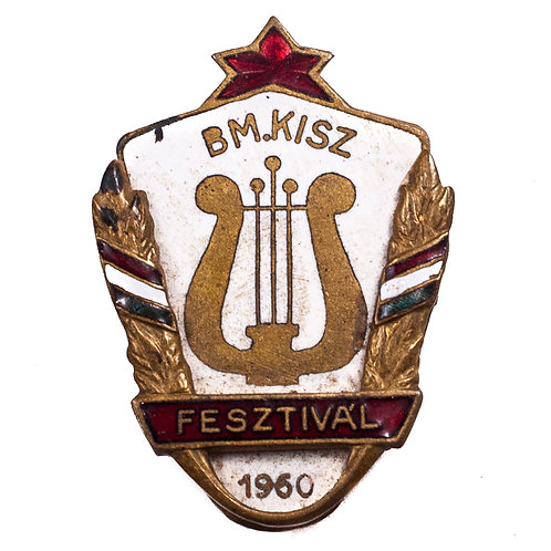 Hungarian KISZ Music Festival Badge
