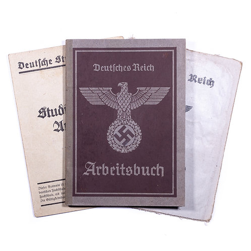 WWII German Paperwork Grouping to Heinrich Rothemeyer (Studentenschaft)