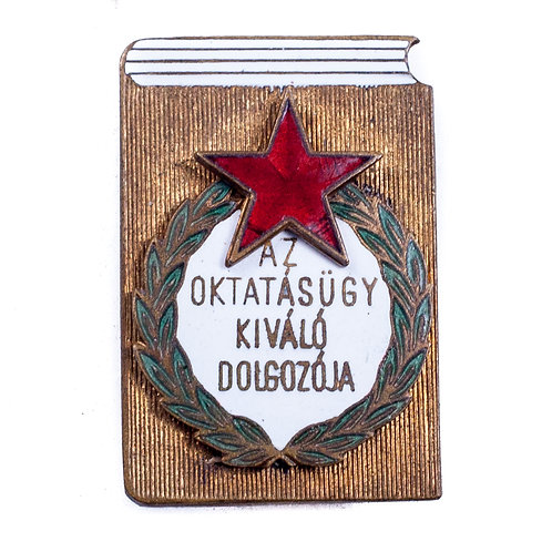 "Badge for the ""Excellent Worker In Education"""