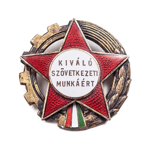 """Hungarian """"Excellent Cooperative Work"""" Award Badge"""